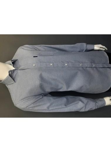 Abbate Baharlık Flanel Regular Fıt Ekose Gömlek Mavi